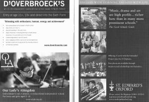 Concert programme example advert pages 2